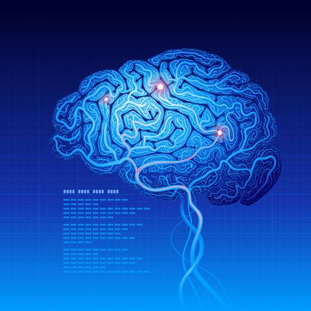 Abstracte wetenschap achtergrond met hersenen. Eps8. RGB. Georganiseerd door lagen. Global kleuren. Gradiënten.