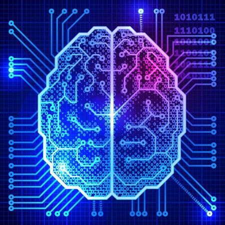 Abstracte wetenschap achtergrond met hersenen. Eps10. Transparantie gebruikt. RGB. Georganiseerd door lagen. Global kleuren. Gradiënten.