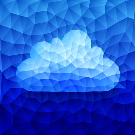 wheather forecast: Blue cloud consist of triangles. Eps8 RGB Organized by layers Gradients used Illustration