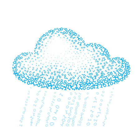 Cloud consisting of binary. Eps8. CMYK. Organized by layers. Global color. Gradients free Vector