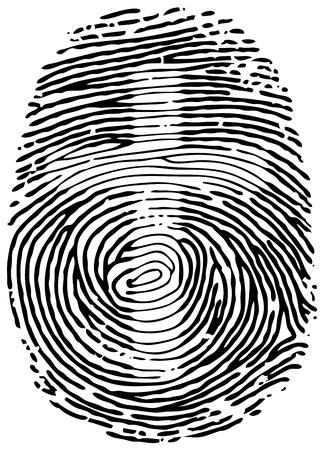 ベクトルの親指の指紋。Eps8。