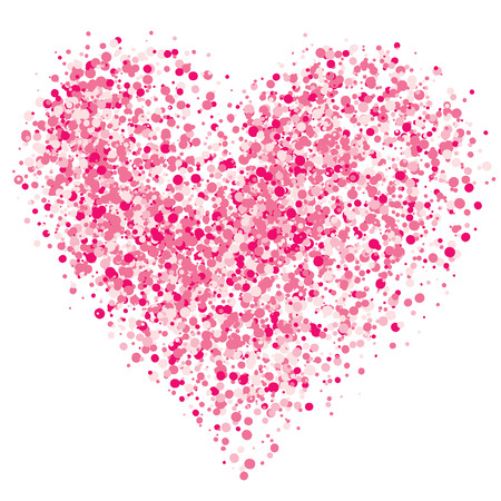 Pink heart of the spray. Eps8. CMYK. Global colors. Gradients free.