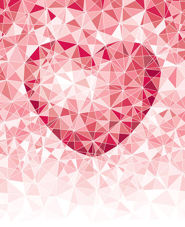Mosaic heart background with copy space. Eps8. CMYK. Organized by layers. Global colors. Gradients free. Vector