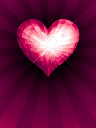 corazon cristal: Crystal coraz�n. Eps8. RGB. Mundial de colores. Gradientes utilizado