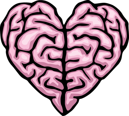 free the brain: Brain heart. Eps8. CMYK. Global colors.Gradients free