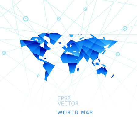 Simplistic world map. Eps8. RGB. Organized by layers. Global colors. Gradients used. Vector