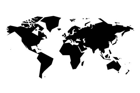 oceania: Simplistic world map. Eps8. RGB. One global color. Gradients free.