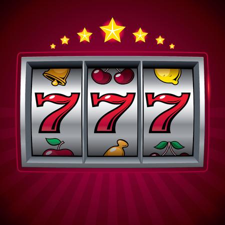 Machine à sous Lucky Seven. Banque d'images - 33172915