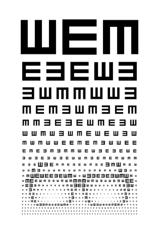 eye chart: Eye chart concept with glasses. Eps8. RGB. Global color. Gradients free.