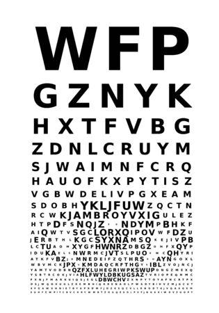 eye chart: Eye chart concept. Eps8. RGB. Global color. Gradients free