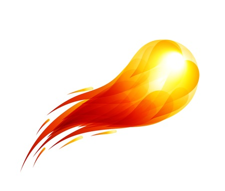 Vector fireball on black background. Eps10. Transparency used. RGB. Organized by layers. Global colors. Gradients used.