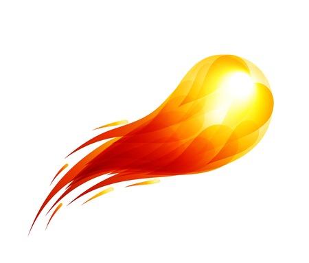 Vector vuurbal op een zwarte achtergrond. Eps10. Transparantie gebruikt. RGB. Georganiseerd door lagen. Global kleuren. Gradiënten. Stock Illustratie