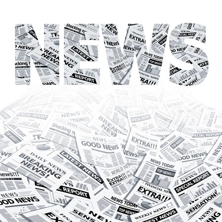 newspaper stack: Vector ball of newspapers. Eps10. Transparency used. CMYK. Global colors. Gradients used. Illustration