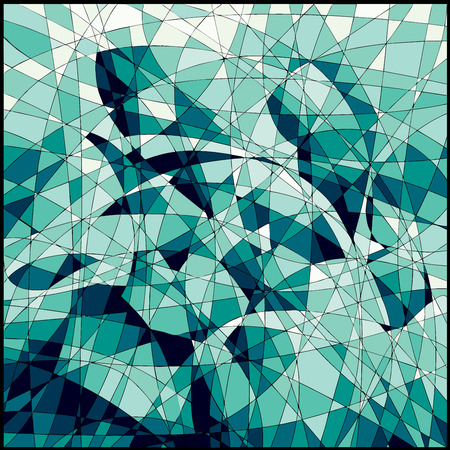 photographic effects: Green mosaic decorative background. Eps8. CMYK. Global colors. Gradients free. Illustration