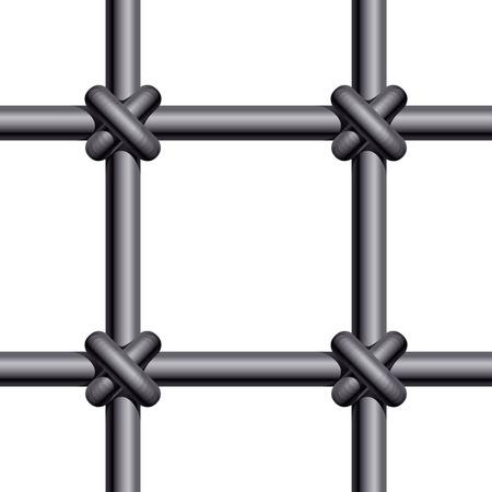 rejas de hierro: Rejas de la prisión. Eps8. CMYK. Color global. Gradientes utilizado Vectores