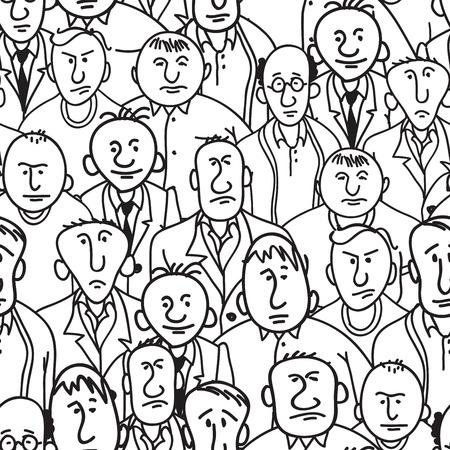 hombres maduros: Grupo de hombres en estilo de dibujos animados. Lanzamiento m�scara de recorte y f�cil de editar. Eps8.