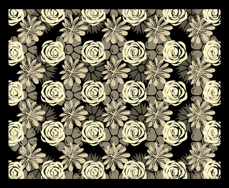 multilevel: Multi-level floral autostereogram. Eps8. CMYK. Organized by layers. Global colors. Gradients free.