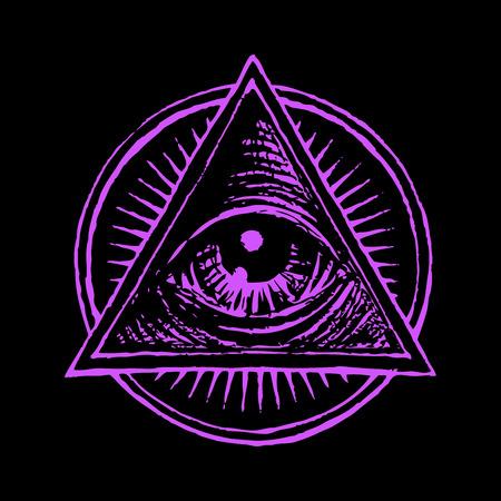 ojo humano: Vector ojo humano en el estilo de grabado. Eps8. CMYK. Organizado por capas. Un color global. Gratis Degradados