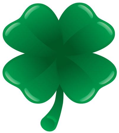 four leaf: Illustration of a four leaf clover