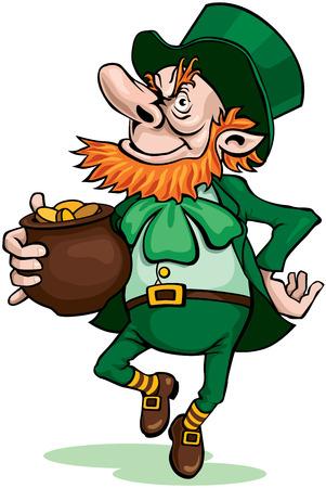 patric: Leprechaun with pot of gold.