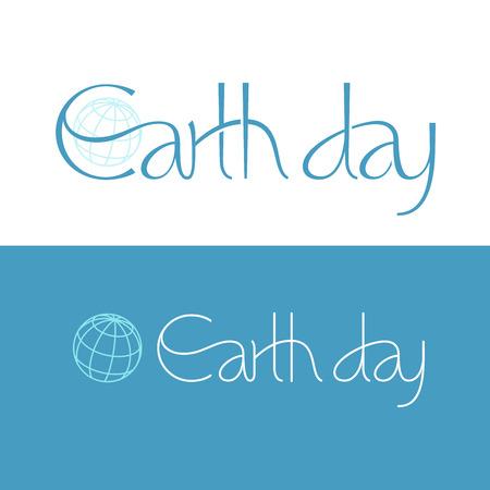 tipos de letras: Frase corta Día de la Tierra. Eps8. RGB. Mundial de colores. Gratis Degradados