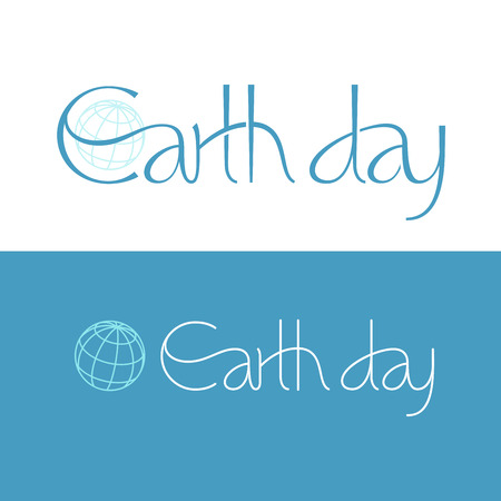 short phrase: Short phrase Earth Day. Eps8. RGB. Global colors. Gradients free