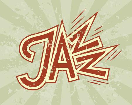 jazz: Vector Jazz flyer on grunge background