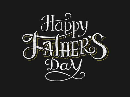 Feliz Día del Padre. Las inscripciones en la pizarra. Eps8. RGB. Mundial de colores. Degradados gratuitas. Cada elementos se agrupan por separado Foto de archivo - 40454528