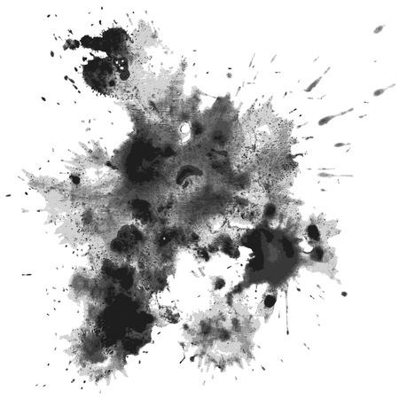transparency color: Ink blots. Eps10. Transparency used. RGB. Global color. Gradients free