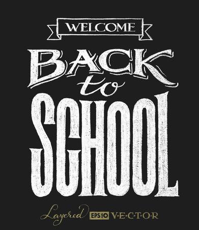 the back: Volver a la escuela. Las inscripciones en la pizarra. Eps10. Transparencia utiliza. RGB. Mundial de colores. Gratis Degradados Vectores
