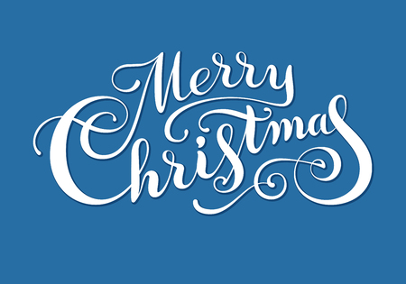 Hand drawn phrase Merry Christmas. Eps8. RGB. Organized by layers. Each letter is made separately. Gradients free