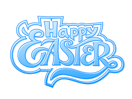 rgb: Happy Easter. Vector lettering. RGB. Global colors Illustration