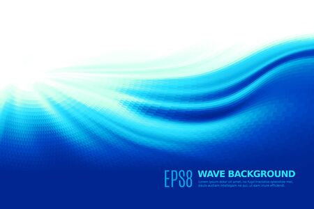ocean wave: Abstract blue wave background. Eps8. RGB Global colors