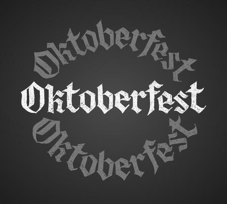 single word: Oktoberfest chalk lettering. Single word. Eps8. RGB Global colors