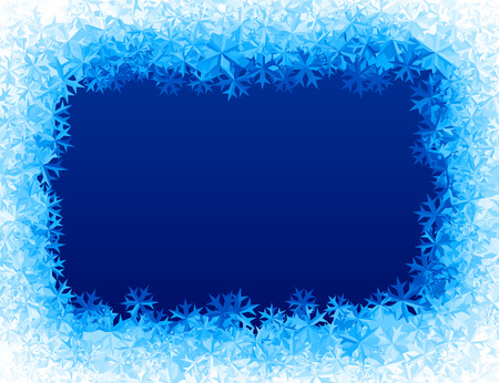 rime: Vector blue ice background. Eps8. RGB Global colors