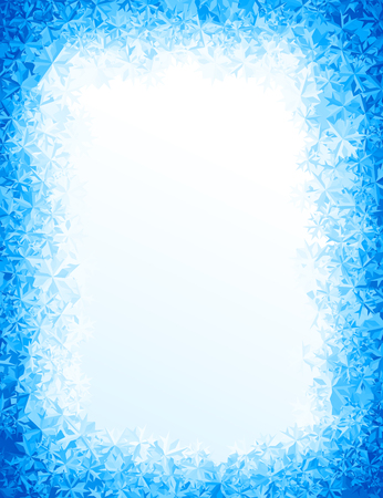Vector blue ice background. Eps8. RGB Global colors Stok Fotoğraf - 66887896