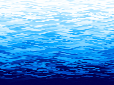 Vector blue wave background. Eps8. RGB Global colors  イラスト・ベクター素材