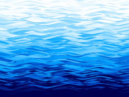 Vector blue wave background. Eps8. RGB Global colors Illustration