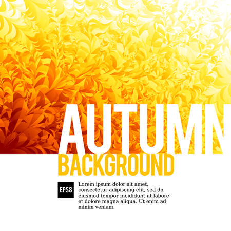 autumn colors: Orange autumn background. Eps8. RGB Global colors Illustration