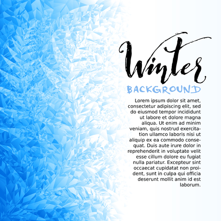 winter season: Ice winter background. Eps8. RGB Global colors Illustration