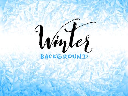 Ice winter background. Eps8. RGB Global colors Illustration