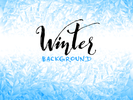 Ice winter background. Eps8. RGB Global colors Illustration