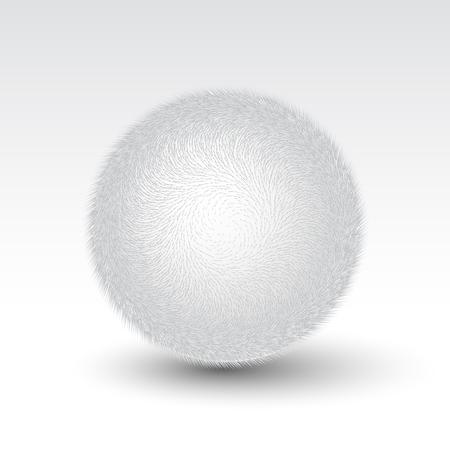 woollen: Vector fur pompon