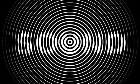 soundtrack: Music sound waves on black background. RGB Global color Illustration