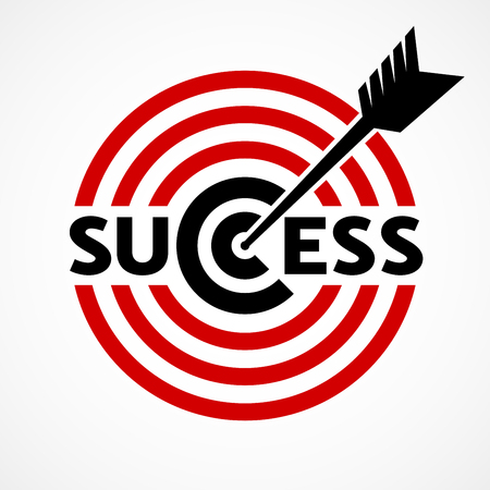 Success concept with target and arrow