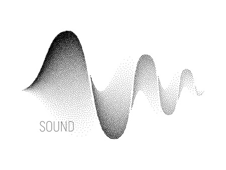 soundtrack: Music sound waves. Halftone vector