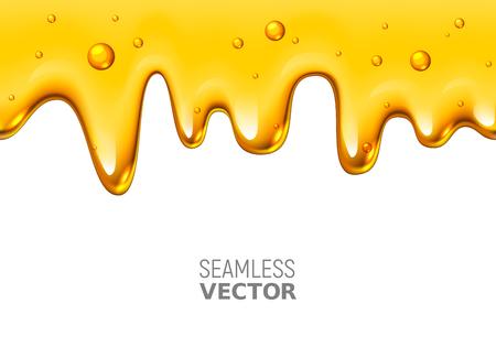 흰색 배경에 원활한 떨어지는 꿀 디자인 벡터
