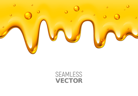leak: A Vector seamless dripping honey design on white background
