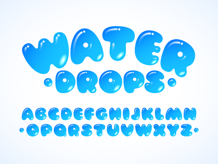 Vector water grpos alphabet 일러스트