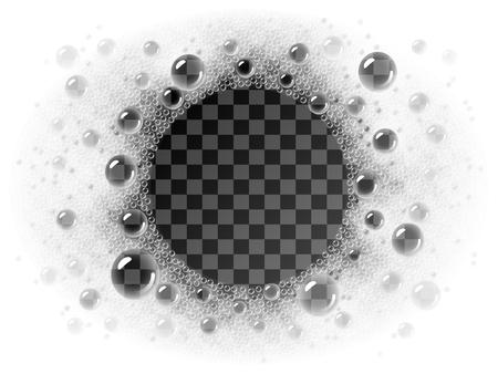 Vektorseifenschaum-Kreisrahmen, der auf transparentem Hintergrund liegt Vektorgrafik